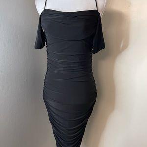 Cefian, black wiggle dress SZ small
